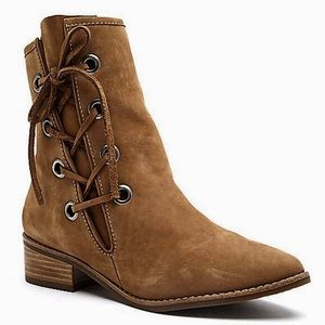 Matisse Proper Leather Boots Lace Zipper Booties